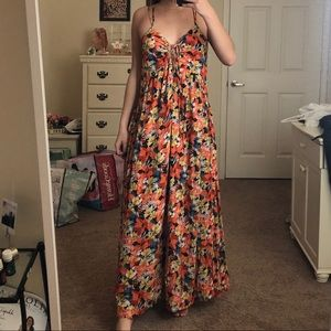 NWOT Free People Floral Maxi Dress